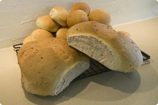 Store brød og boller