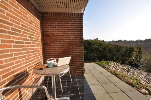 Morgen kaffe på terrassen