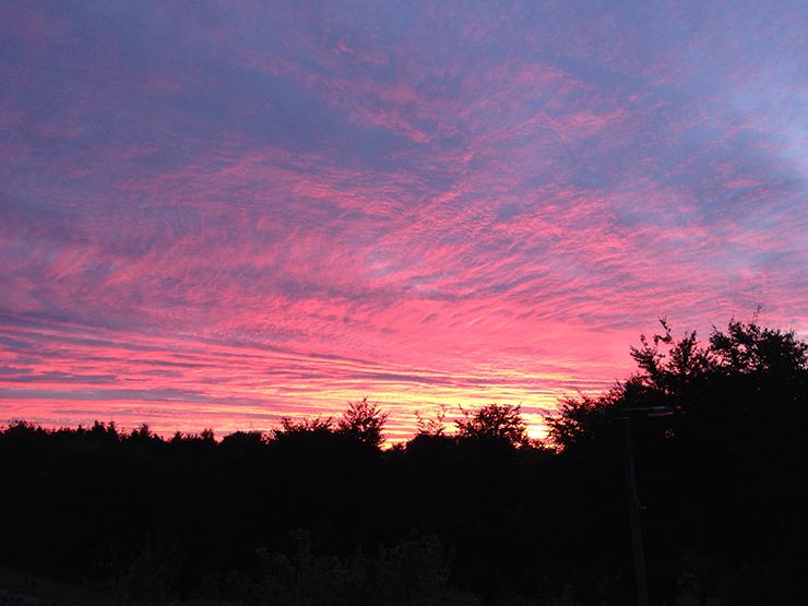 Smuk solopgang