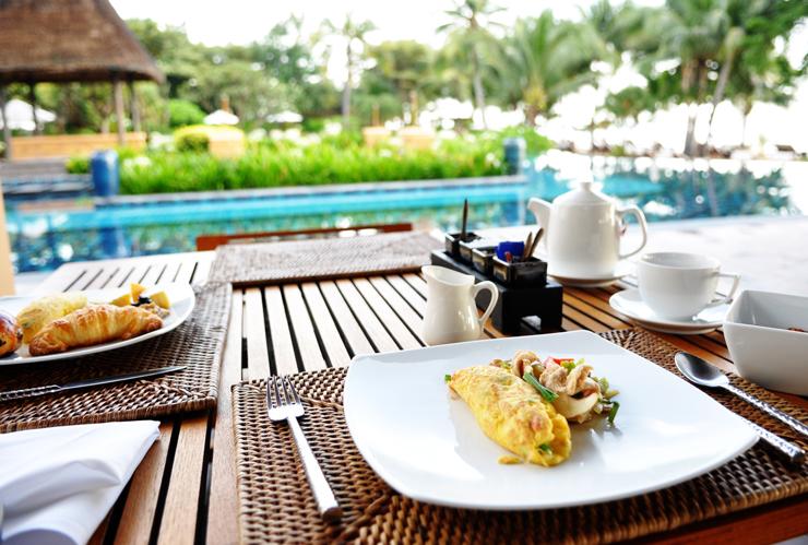 Sidste morgenmad på Asara Villa & Suite