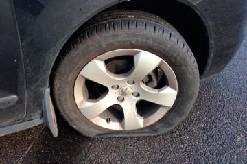 Punkteret hjul